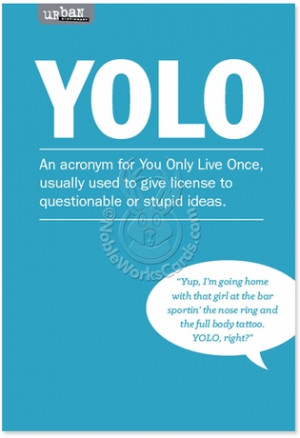 ... Teenage Slang, Twitter Yolo Humorous Picture Birthday Card Nobleworks