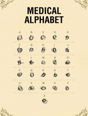 Funny Doctor Medical Alphabet Picture Image