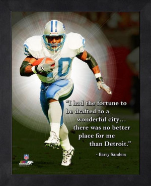 Barry Sanders Pro Quote -