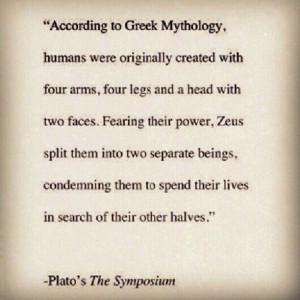 Greek mythology. Soul mates.