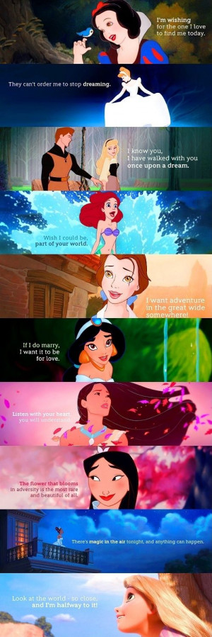 Love Quotes Disney Princess Movi...