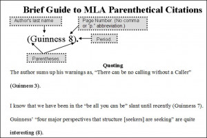 How do start research paper with a quote in MLA format?