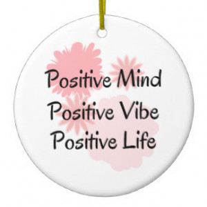 Positive Mind, Positive Vibe, Positive Life Quote Double-Sided Ceramic ...