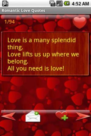 Romantic Love Quotes - screenshot