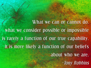 Tony Robbins on beliefs and possibility