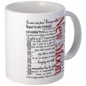 Black Gifts > Black Coffee Mugs > New Moon Movie Quotes Mug
