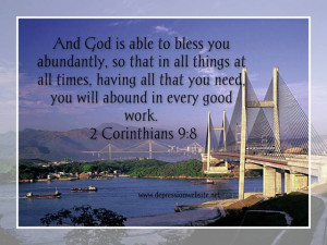christian quotes about life 2 Corinthians 9 8