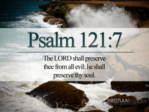 Bible Verses Psalm 121:7 Ocean Waves Picture HD Wallpaper