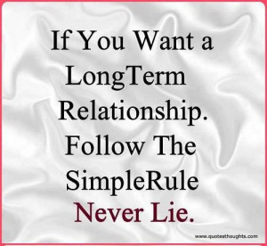 Relationship Quotes-Thoughts-Long Term Relationship-Simple Rule-Never ...