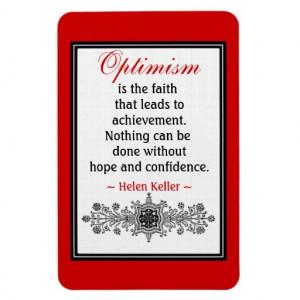 motivational_helen_keller_quote_magnet_optimism ...