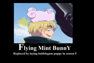 Flying mint bunny Motivational by XEPICTACOSx