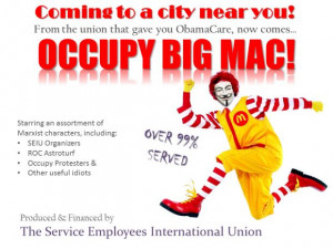 Fast Food No More: How The SEIU & Union Front Groups Want To Occupy ...