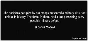 by our troops presented a military situation unique in history ...