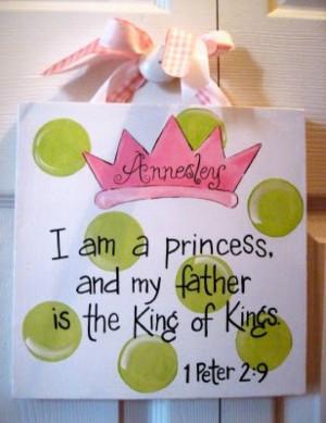 Princess Baby Girl Bible Verse Canvas Sign. $25.00, via Etsy. I mean I ...