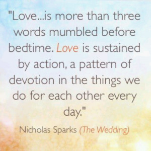 Nicholas Sparks - The Wedding quote