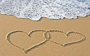 schattige Valentijn-strand-liefde plaatjeliefde plaatje: schattige ...