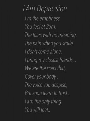 ... emptiness you feel at 2am the tears with no meaning the pain when you