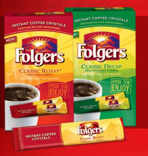 50/1 Folgers coffee coupon = Free Folgers Instant Coffee Sticks at ...