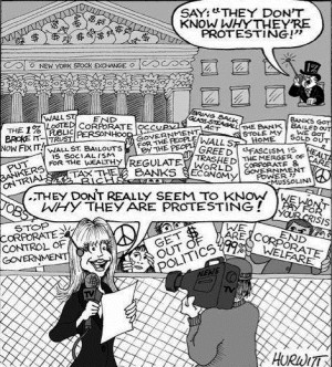 What are some Occupy Wall Street political cartoons?