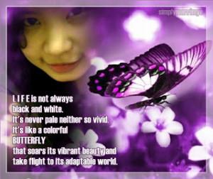 graceful flight of life is like a butterfly