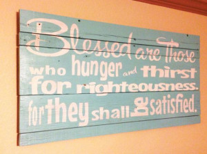Wooden typography Bible verse sign made out of reclaimed barn wood. My ...