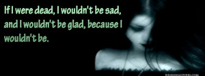 goth timeline cover / dark goth girls timeline cover : death quote ...