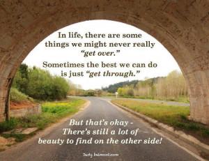 Get through...