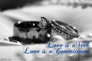 love is a verb love is a commitment
