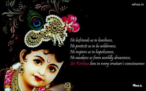... Krishna Quotes,Quotes of Radhe Krishna,Image of BalKrishna With Quote