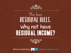 Would you rather earn LINEAR INCOME or RESIDUAL INCOME?