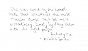 The Lucky One By Nicholas Sparks Quotes