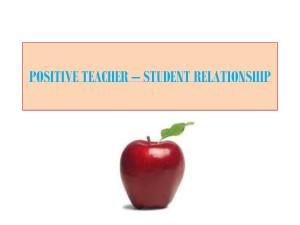 relationship between student and teacher