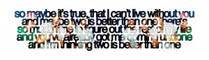 Two Is Better Than One - Boys Like Girls & Taylor SwiftRequest for