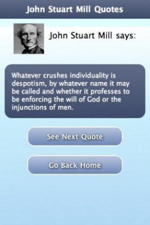 View bigger - John Stuart Mill Quotes for Android screenshot