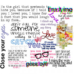 teenage love quotes - Polyvore