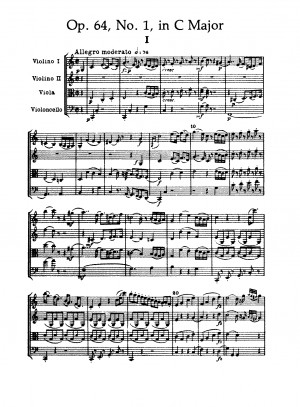 List of Opus 64 quartets