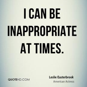 Inappropriate Quotes