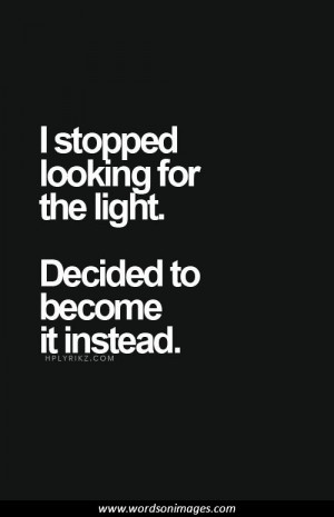 Inspirational quotes light