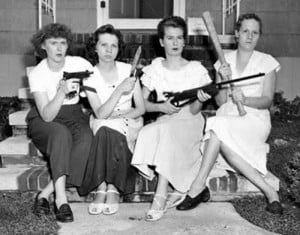 vintage women with guns neighborhood watch gun control Family ...