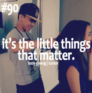 It's the little things that matter!