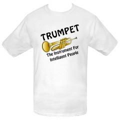 trumpet t shirts | Intelligent Trumpet Custom T-Shirts | Funny ...