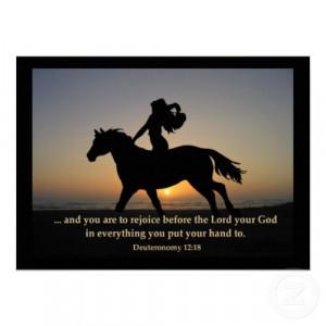 Horse w/ bible verse