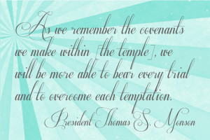 April Visiting Teaching Message: Temple Covenants