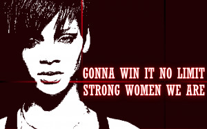 ... women we are winning women rihanna song lyric quote in text image next