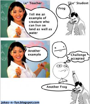 Teacher Student Joke meme