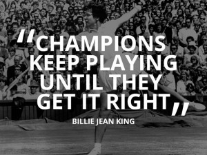 Billie Jean King #quote