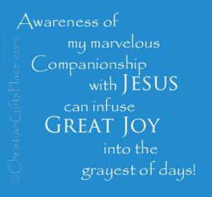 Jesus gives great JOY!