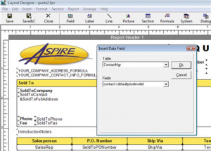 QuoteWerks prints information pulled from other MS CRM fields