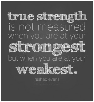 True Strength...