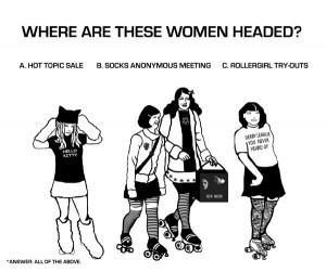 This blog is very funny if you're fond of roller derby.